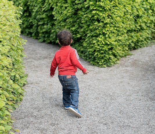 child at crossroads