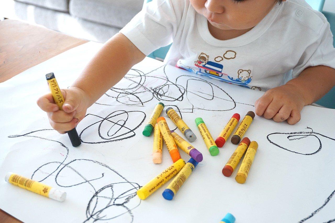 child being creative